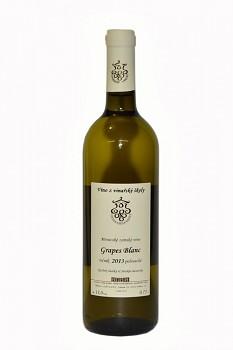 Chardonnay - výběr z hroznů 2015 - polosladké   0,75 L