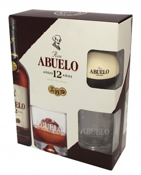Abuelo Rum 12yo Ice and Glass set            40% 0,7l