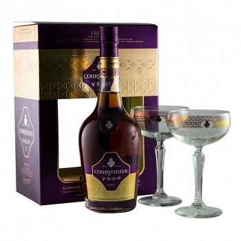 Courvoisier Cognac VSOP 2 x sklo       0,7 L 40%
