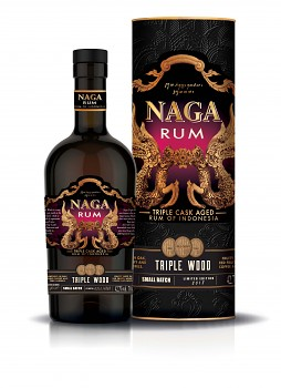 NAGA RUM TRIPLE WOOD 42,7% 0,7l (tuba)