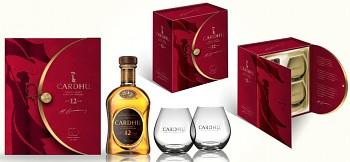 CARDHU 12Y + 2xSKLO 40% 0,7l