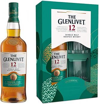 GLENLIVET 12Y DOUBLE +1xSKLO 0,7l40%obj.